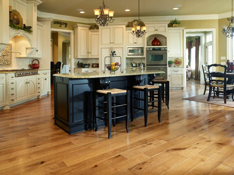 Bamboo and Hickory Kitchen Flooring